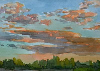 Zachód słońca - Brzezina